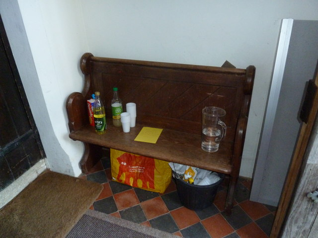 Holy Trinity, Newtown- provisions in the porch