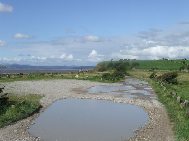 Track on the edge of  Morecambe Bay