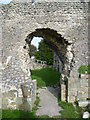 TQ4109 : Ruins of the Priory of St Pancras, Lewes - the entrance to the dormitory by Ian Yarham