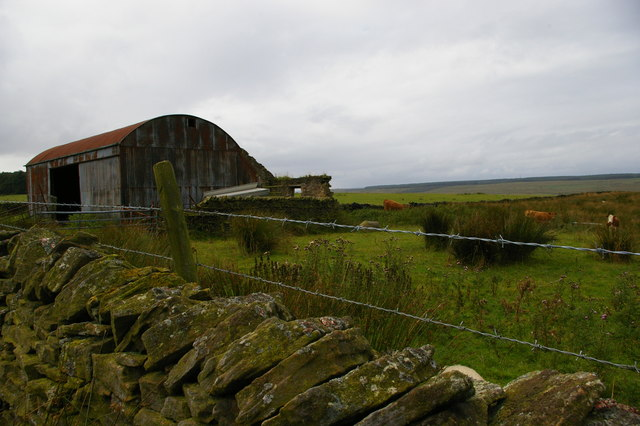 Peat Rigg: ruined farm and barn attached