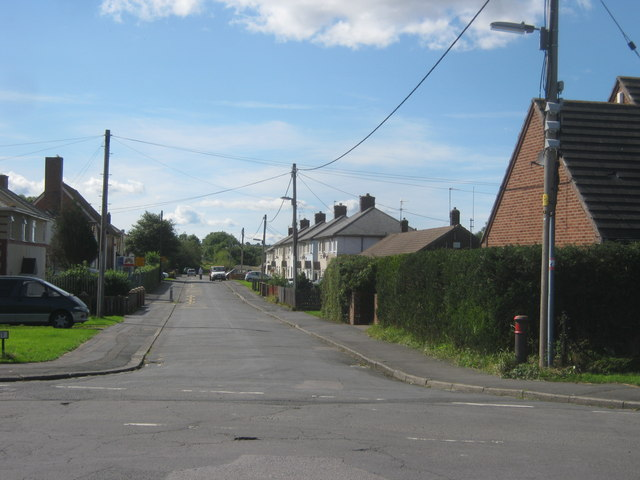 The northern end of Moor Crescent in Ludworth