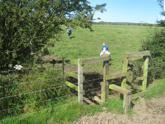 Stile for footpath north of Ludworth