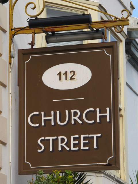 Sign for 112 Church Street, BN1