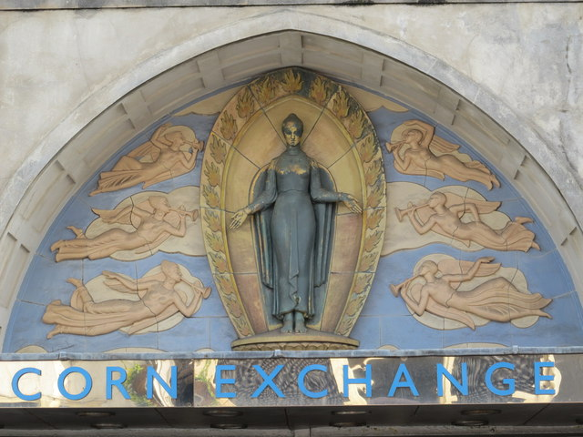 Panel above the entrance to the Corn Exchange, Church Street, BN1