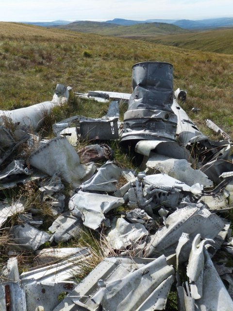 Aircraft wreckage close up