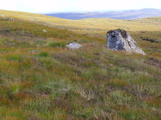 Boulder south of Creag a' Chorre Dhuibhe above Glen Cannich, Inverness