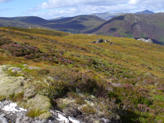 Rocky ridge in Glas Choire above Glen Cannich, Inverness