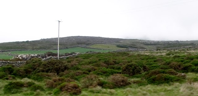 A strip of reclaimed land in the moorland at Crockanroe