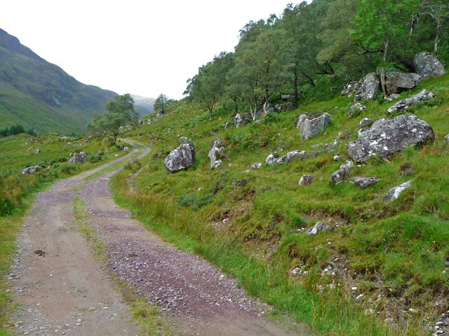 The Glen Elchaig track