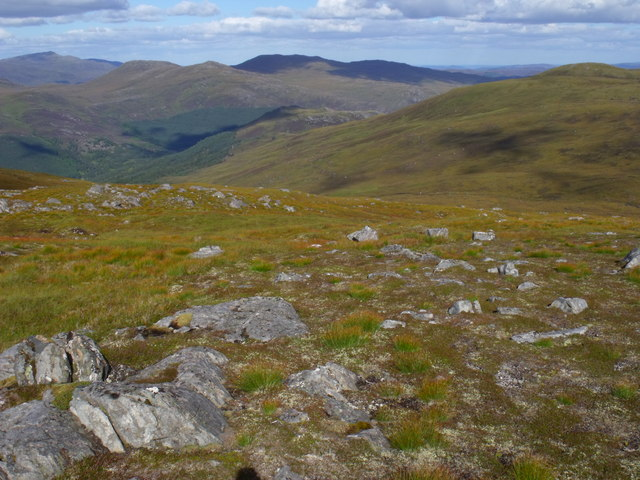 North-east side of Creag a' Chorre Dhuibhe above Glen Cannich, Inverness