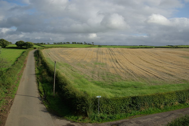 View from former railway bridge NE of Burncrooks