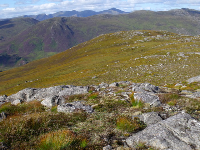 Summit ridge of Creag a' Chorre Dhuibhe above Glen Cannich