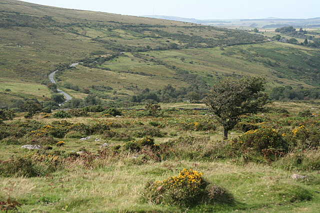 Dartmoor Forest: road to Hexworthy