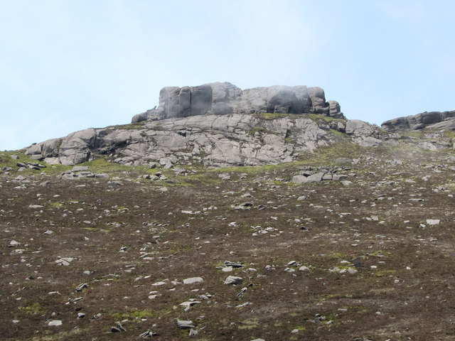 The summit tors on Binnian