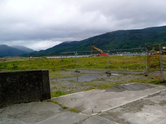 Site works near Holy Loch Marina