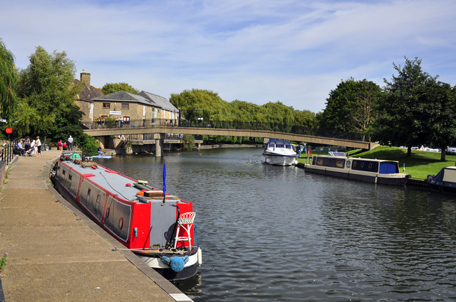 Canal boats on the River Great Ouse - Ely