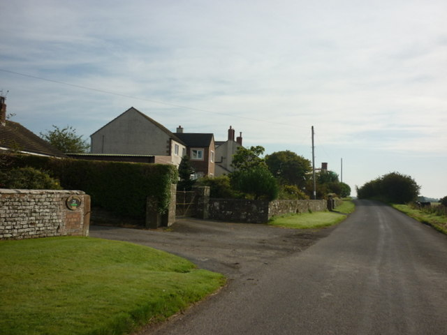 Houses near West Whitrigg Farm