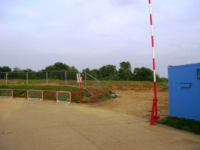 Former landfill site at Sandford Farm, Woodley