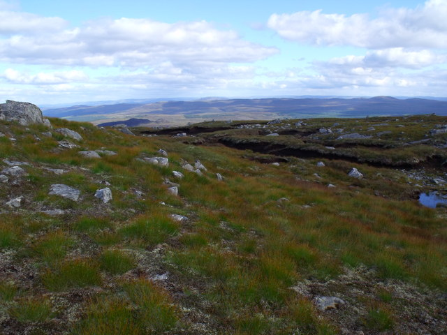 Area of peat bog high above Glen Affric