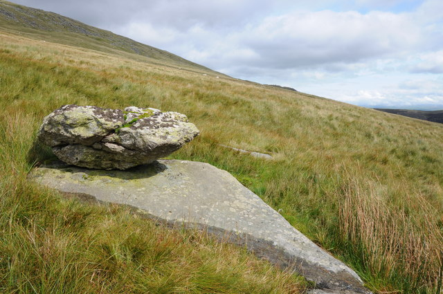 Erratic rock above Cwm Eigiau