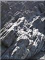 SN5882 : Aberystwyth Grits - fault across strata by Rudi Winter