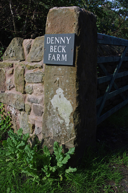 Gate post, Denny Beck Lane