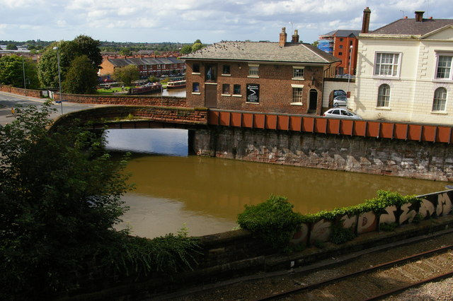 Chester: the canal from the city walls