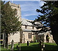 SK7460 : St Andrew's Church amongst churchyard trees by Andrew Hill