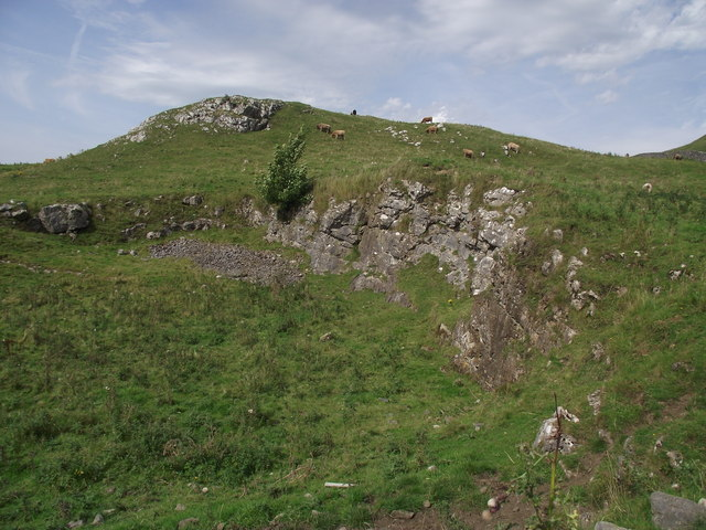 Disused quarry and rocky outcrop