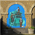 TQ5980 : Mural on the Filter House by Roger Jones