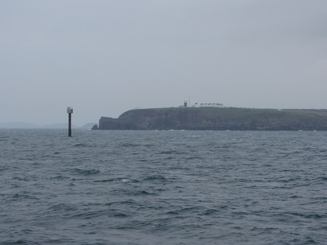 Light beacon off St Ann's Head
