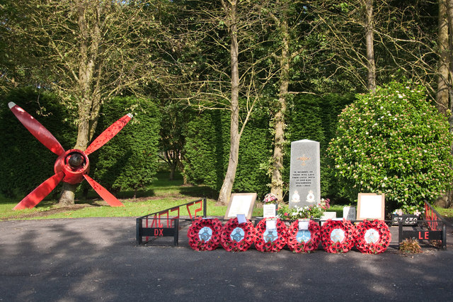 Memorial to those of 57 and 630 Squadrons - East Kirkby