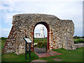 TF6741 : Remains of St Edmund's Chapel, Hunstanton, Norfolk  by Christine Matthews