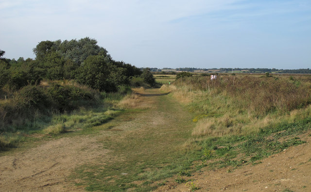 Path behind the sea wall