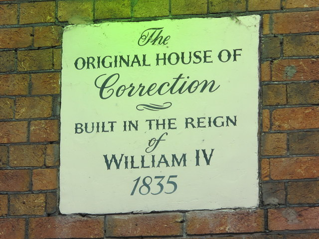 "Plaque on the ""Original House of Correction"", Brighton Place, BN1"