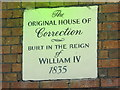 TQ3104 : Plaque on the &quot;Original House of Correction&quot;, Brighton Place, BN1 by Mike Quinn