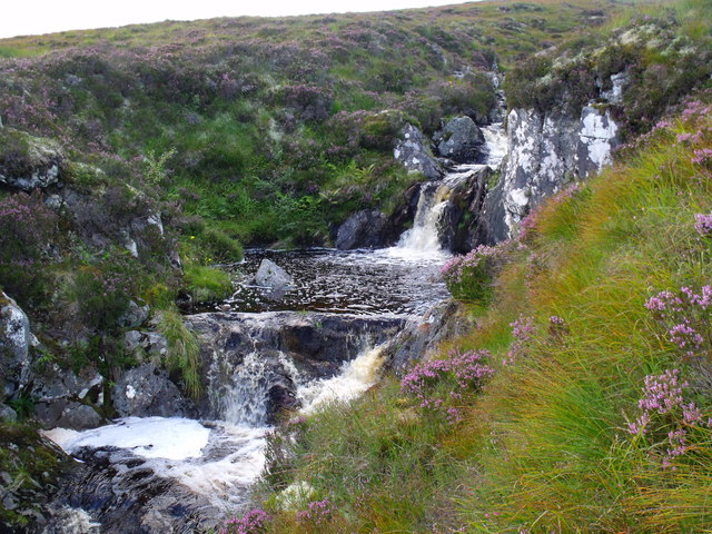 Waterfalls on An Cam-allt above Glen Affric