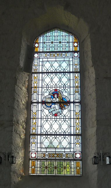 St George's stained glass: Luke