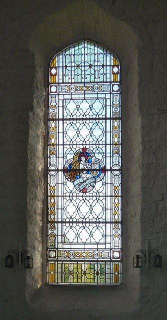 St George's stained glass: Matthew