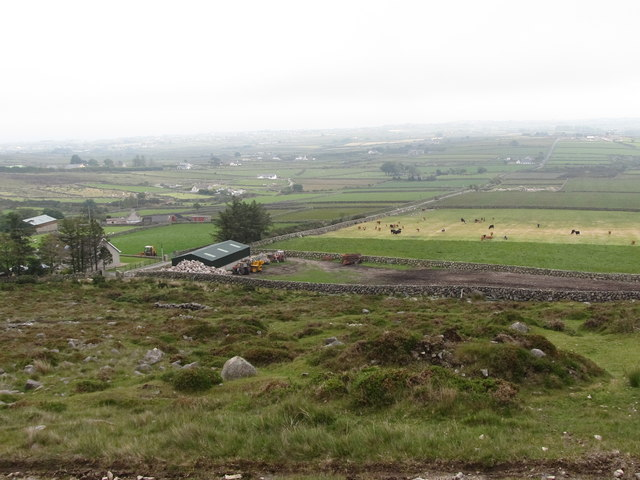 Moorland edge farm north of the Brackenagh West/Head Road junction