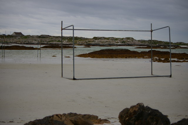 Goalposts on beach