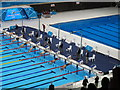 TQ3884 : Paralympics swimming, SM9 men diving start by David Hawgood