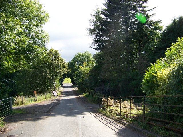 Muirburn Road approaching Strathaven Road
