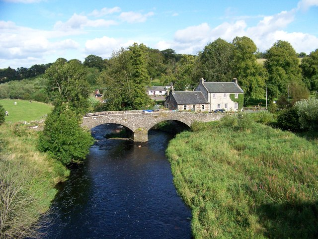 The Old Craig Bridge from the B7086 south of Strathaven