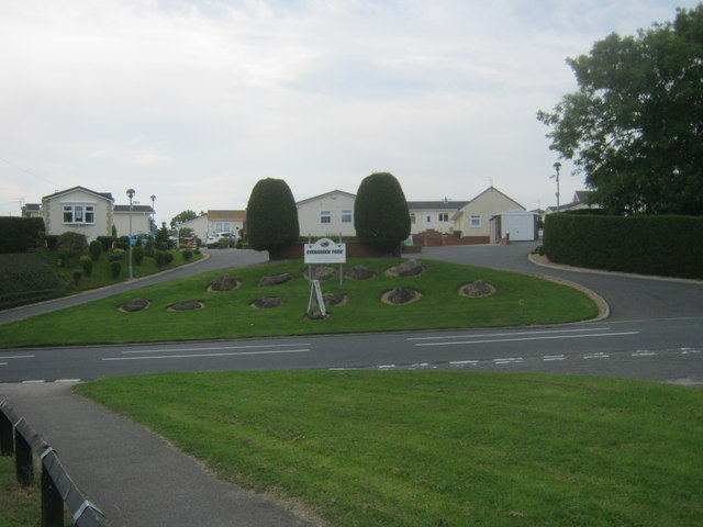 Entrance to Evergreen Park from the A1086 at Crimdon
