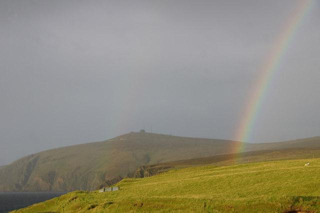 Rainbow at Burrafirth