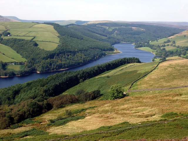 Ladybower Reservoir from Derwent Moors