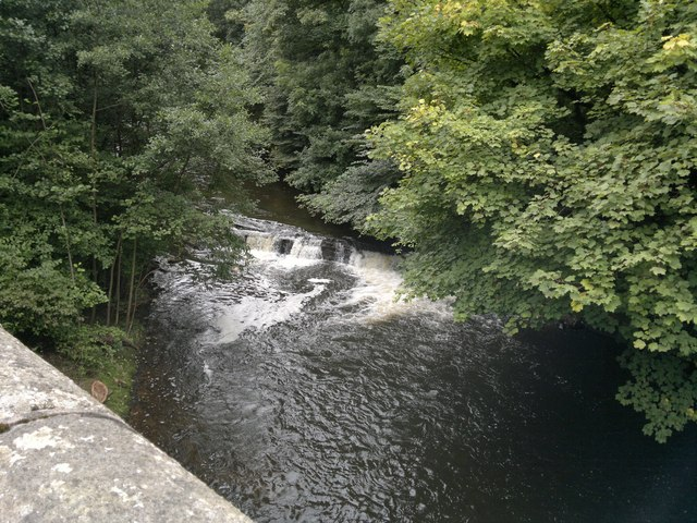 Weir on River Goyt at Marple