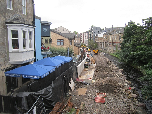Flood defences, Stockbridge