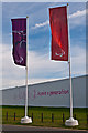 TQ4377 : Paralympic flags, London 2012 shooting venue  by Ian Capper